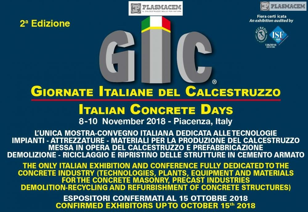 Exposition GIC 2018 - The Italian days of the concrete