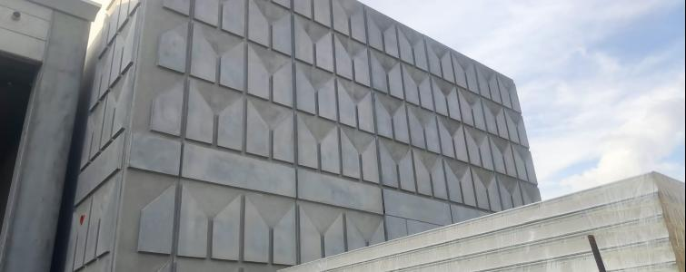 PLASMACEM - TAILOR MADE CONCRETE - NEW INDUSTRIAL BUILDING WITH DRAWING MATRIX