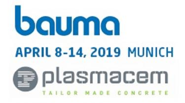 PLASMACEM WILL BE AT BAUMA 2019......WE WAIT YOU!!!!