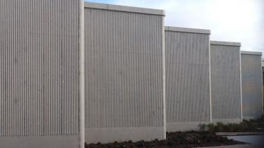 WALLS MADE IN PRECAST WITH OUR FORMLINER TYPE ESX / 0210-ONDULATO  hight 5ml. in one sheet.